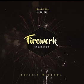 Fireworks Video Template Album Cover