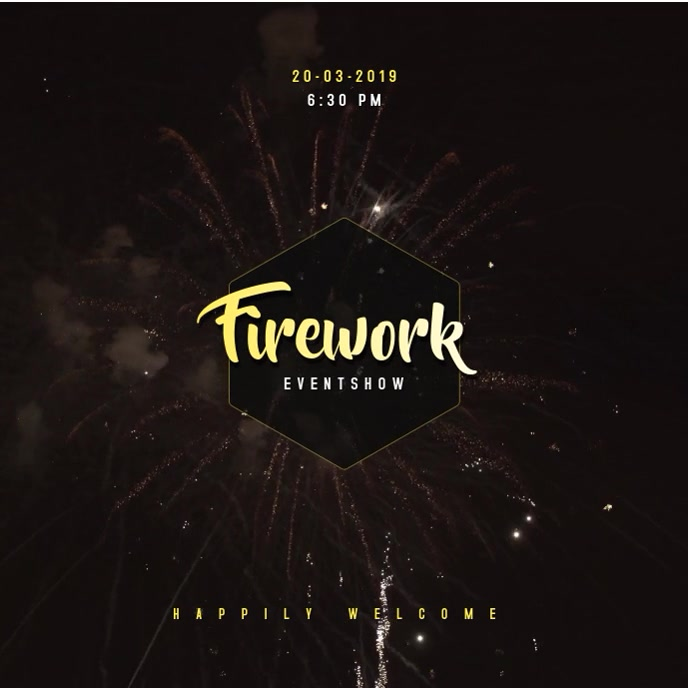 Fireworks Video Template
