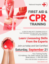First Aid & CPR Training Flyer template