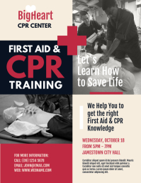First Aid & CPR Training Flyer