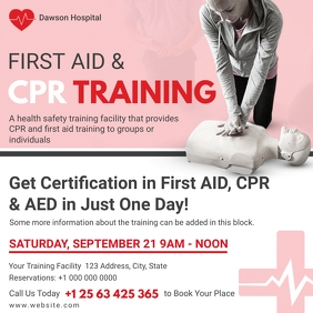 First Aid And CPR Training Certification Ad
