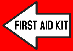 FIRST AID KIT arrow left