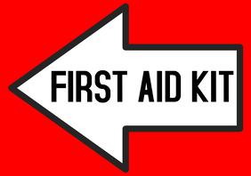 FIRST AID KIT arrow left