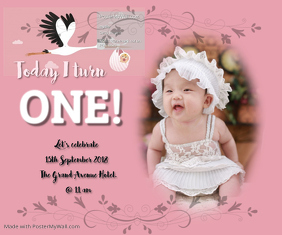 First Birthday Invitation 02