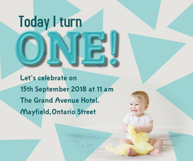 First Birthday Invitation Medium Reghoek template