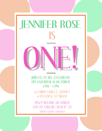 First Birthday Party Invitation Template
