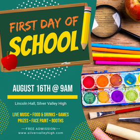 First Day of Class Party Invite
