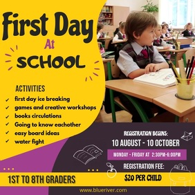 First Day of School Activities Online Ad