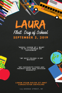 First Day Of School Celebration Event Flyer
