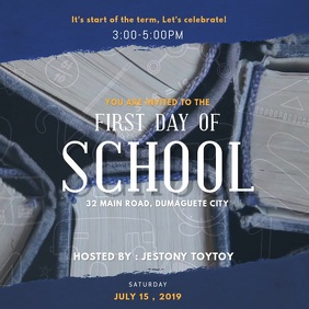 First Day of School Event Invitation