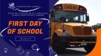 First Day of School Event Video Banner