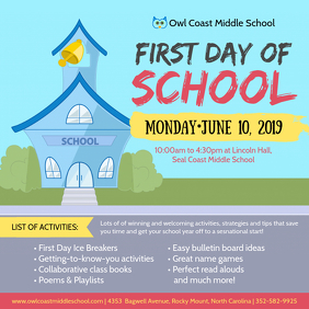 First Day of School Icebreaking Party Invite