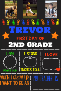 First Day of School Memory Poster Family Collage flyer