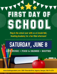 First Day of School Party Flyer template