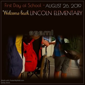 First Day of School Reminder Video