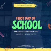 First Day of School Sale Online Ad