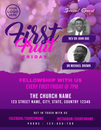 First Fruit Friday Church Event Flyer