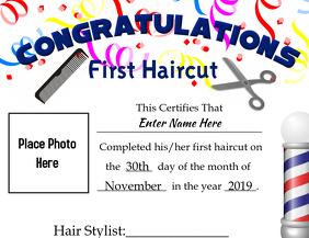 First Hair Cut w/pic