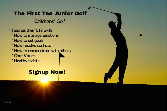 first junior golf tee template postermywall