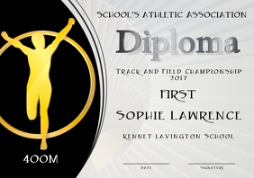 first place diploma