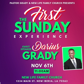 FIRST SUNDAY CHURCH FLYER TEMPLATE