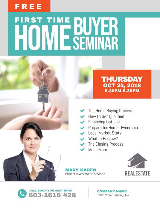 First Time Home Buyer Seminar Flyer