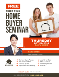 First Time Home Buyer Seminar Flyer Ulotka (US Letter) template