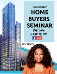 First time real estate homebuyers class Flyer (Letter pang-US) template