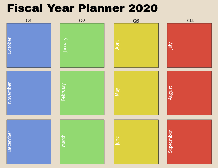 image regarding Yearly Planner Template identify Monetary Yr Planner Template PosterMyWall