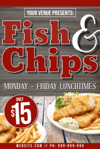 Fish & Chips Poster template