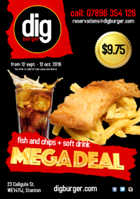 Fish and Chips deal Poster