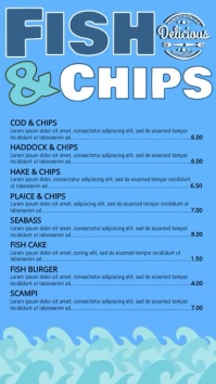 Fish and Chips Digital Menu Template