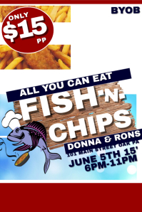 Customizable Design Templates for Fish Fry | PosterMyWall