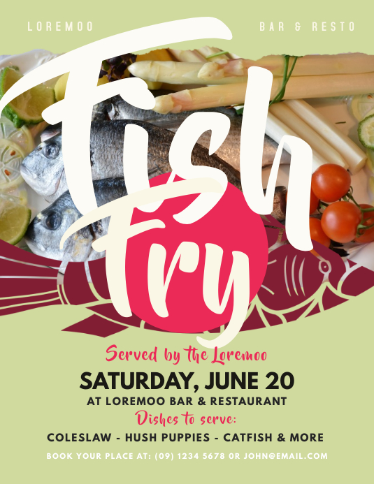 fish fry flyer template postermywall