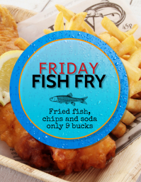 fish fry fried fish flyer