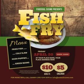 Fish Fry Instagram Post template