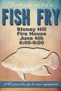 Fish Fry Invitation Poster Event Flyer Fundraiser Dinner