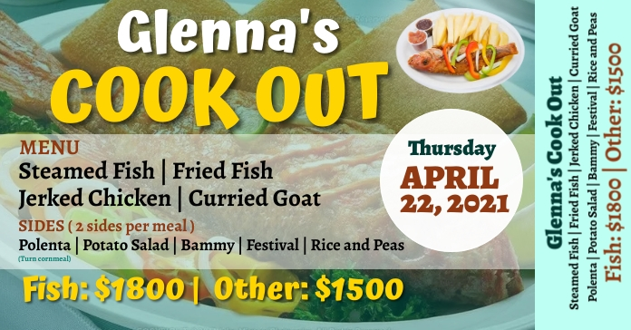 Fish Fry Ticket Facebook Ad template