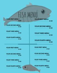 Fish Menu Poster/Wallboard template
