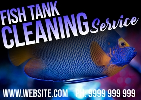 Fish Tank Cleaning Postcard template