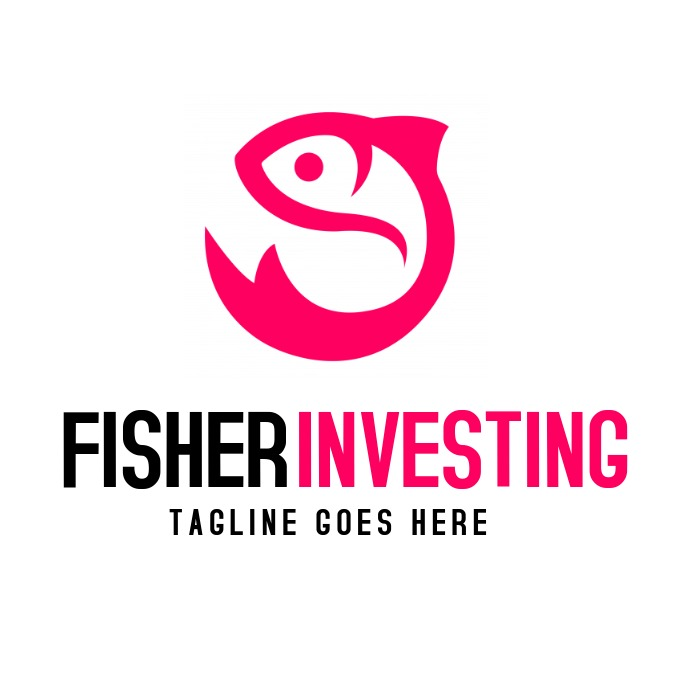 Fisher investing fish icon red logo Логотип template