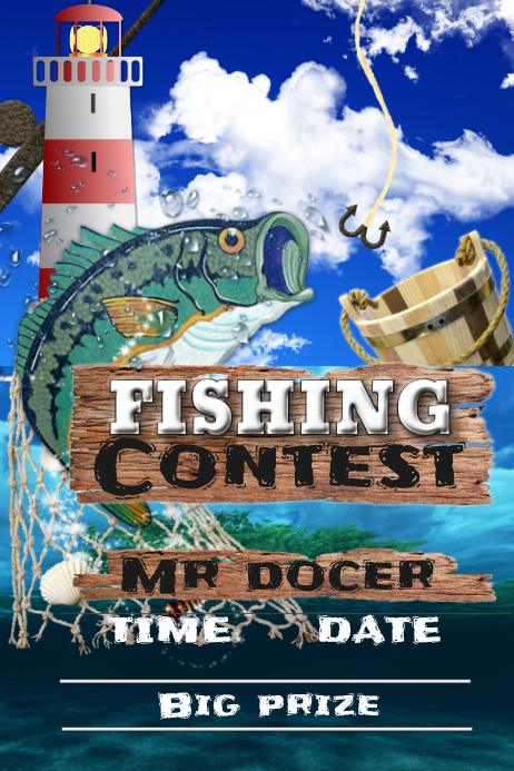 fishing contest template