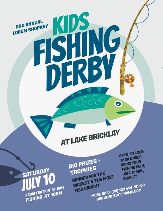 Fishing Derby Flyer 传单(美国信函) template