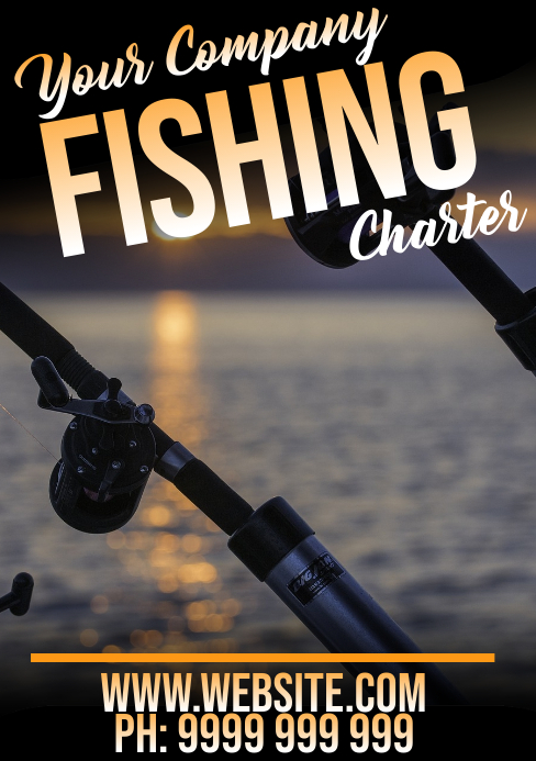 Fishing A5 template
