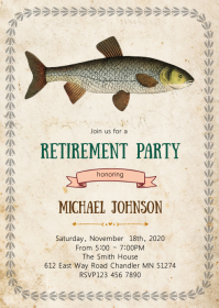 Fishing retirement party invitation