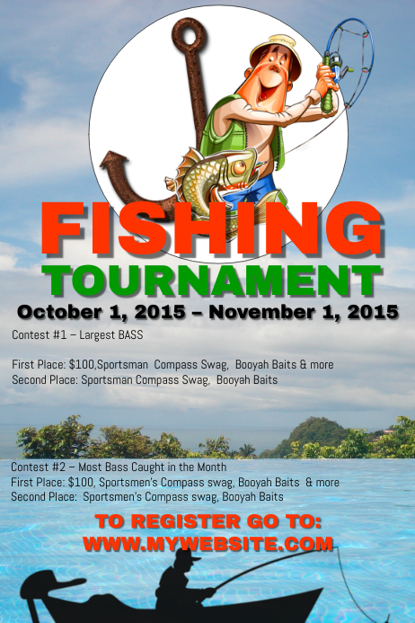Fishing Tournament Template Postermywall