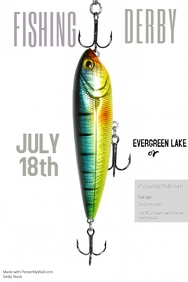 Fishing Tournament Poster Template