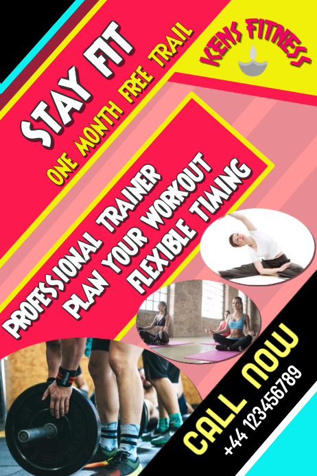 copy of fitness  gym  workout  template flyer