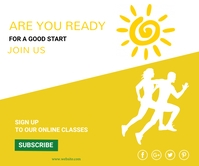 Fitness,gym,shape your body Large Rectangle template