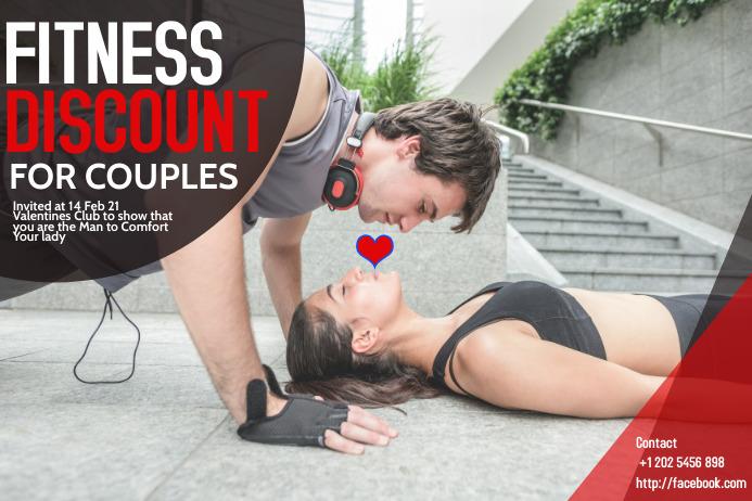 fitness ,gym 横幅 4' × 6' template